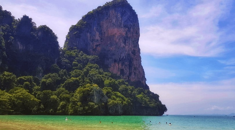 The Beach and cliffs of Railay, Thailand