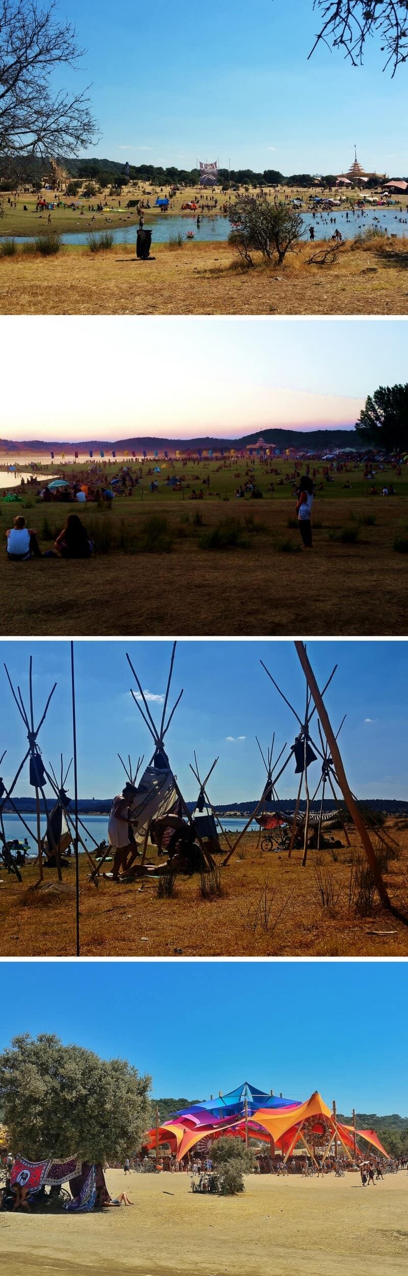 Boom Festival Daytime collage