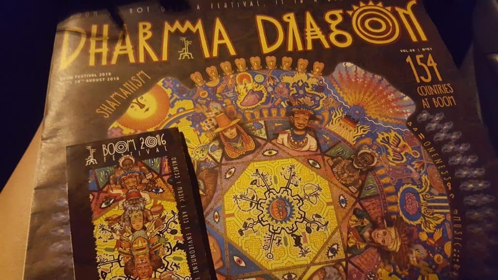 Dharma Dragon Newspaper from Boom Festival